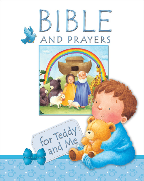 Bible and Prayers for Teddy and Me, blue