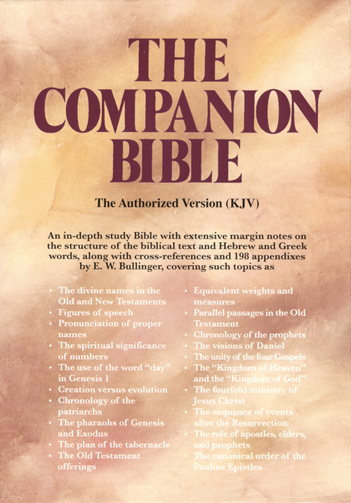 The Companion Bible, Black Bonded Leather