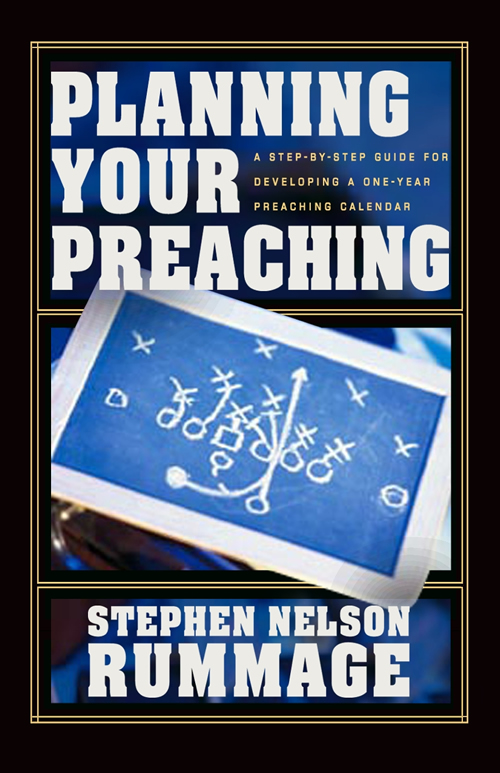 Planning Your Preaching