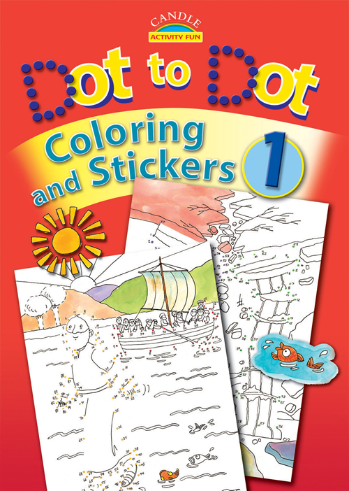 Dot to Dot Coloring and Stickers #1